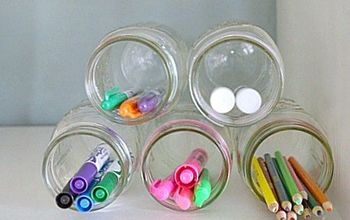 10 Minute Organization Idea Using Mason Jars