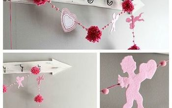 quick easy valentine s day banner, crafts, seasonal holiday decor, valentines day ideas
