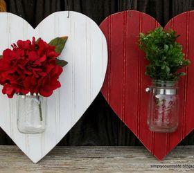 Heart Shaped Mason Jar Valentines Door Hanger Valentinesday, Crafts,  Seasonal Holiday Decor, Valentines