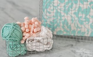 diy wire mesh baskets for those awkward spaces, crafts, organizing, storage ideas