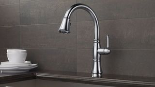 , This model Cassidy from Delta Faucet is available in different finishes and has two options for operating touch and non touch