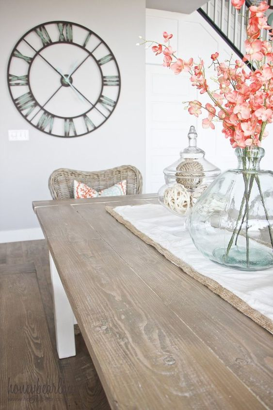 diy farmhouse table, dining room ideas, diy, painted furniture, rustic furniture, woodworking projects