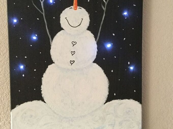 light up canvas art, crafts, decoupage