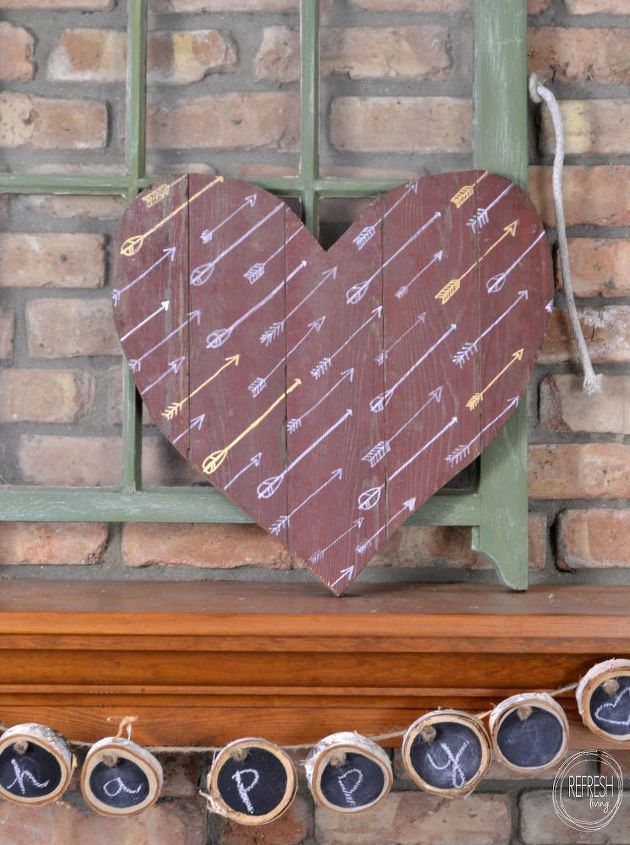 rustic plank wood heart, seasonal holiday decor, valentines day ideas, wall decor, woodworking projects