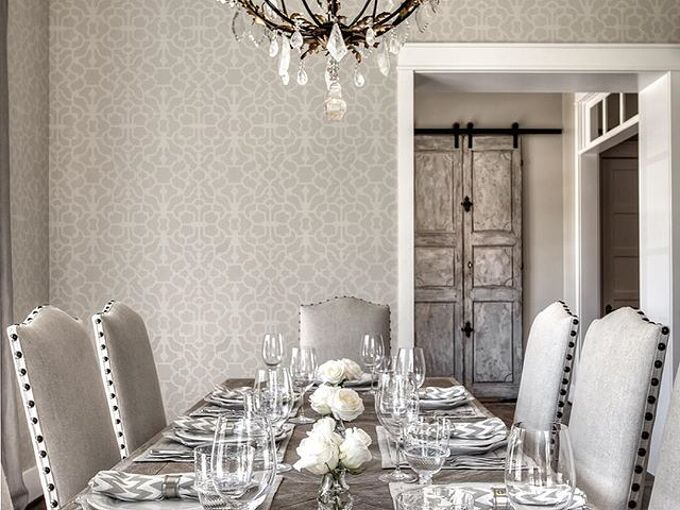 5 drool worthy stenciled dining rooms, dining room ideas, painting