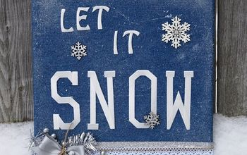 let it snow canvas, crafts, seasonal holiday decor, wall decor