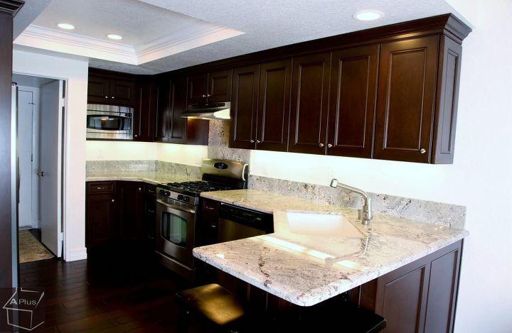 kitchen remodel with custom dark brown cabinets, bathroom ideas, home improvement, kitchen cabinets, kitchen design, laundry rooms, windows