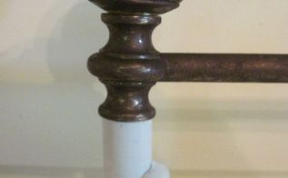 how to age brass the easy way, how to, painted furniture, Here s a close up of the brass after aging it