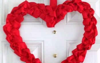 Heart Shaped Ribbon Lei Wreath
