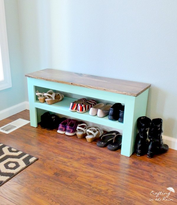 diy shoe bench, diy, organizing, painted furniture, woodworking projects