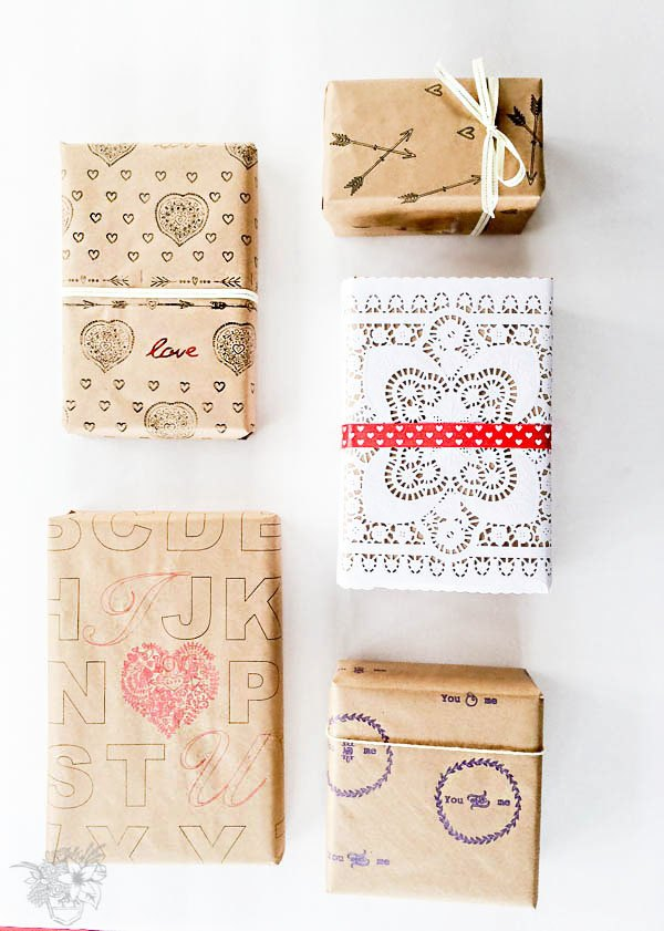 preppy and unique diy valentines day gift wrap, seasonal holiday decor, valentines day ideas