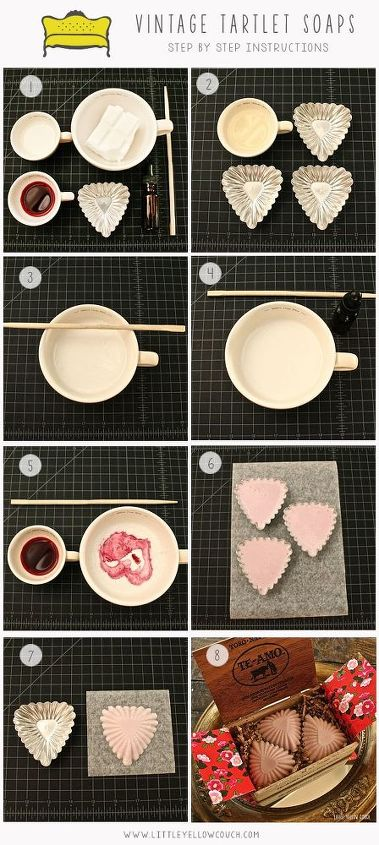 valentine s day vintage tartlet heart soaps valentinesday, crafts, how to, seasonal holiday decor, valentines day ideas