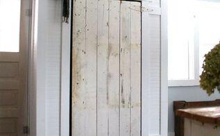 covering up our incredible eye sore barn door closet, closet, diy, doors, outdoor living, woodworking projects