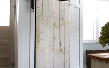 Covering up Our Incredible Eye Sore - Barn Door Closet!