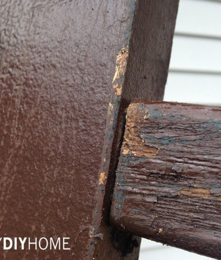 deck railing upcycled to porch ladder, decks, diy, home improvement, outdoor living, painting, porches