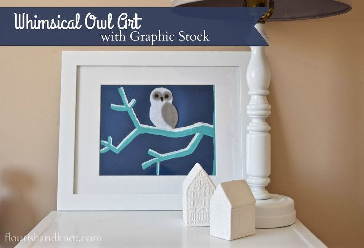 whimsical owl art create share challenge, crafts