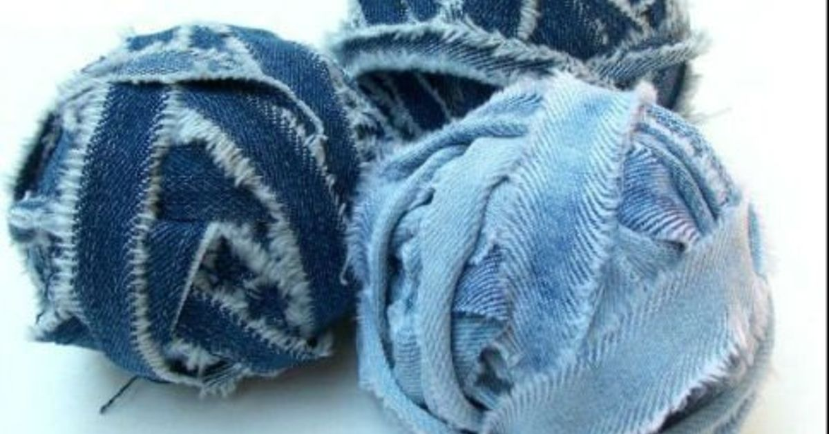 How To Make Denim Yarn From Old Jeans Hometalk