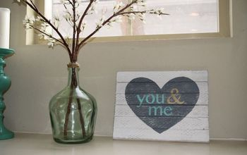 You & Me Heart DIY Wood Sign