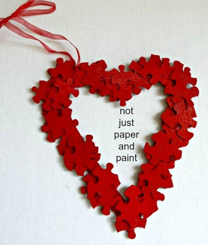 puzzle pieces for valentine s day, crafts, seasonal holiday decor, valentines day ideas