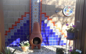 DIY Hand Painted Talavera Tile Accent Wall