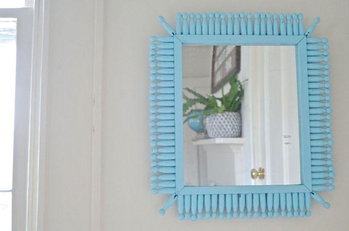dollar store sunburst mirror, crafts, repurposing upcycling, wall decor