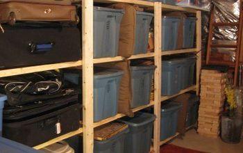 Easy Basement or Garage Shelving