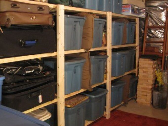 easy basement or garage shelving, basement ideas, garages, organizing, shelving ideas, storage ideas, woodworking projects