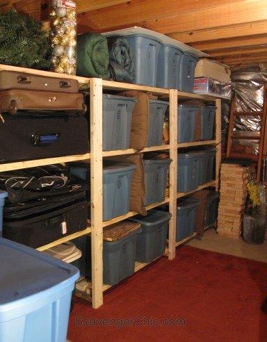 Easy Basement Or Garage Shelving Ideas Garages Organizing