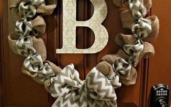 DIY Chevron Burlap Wreath