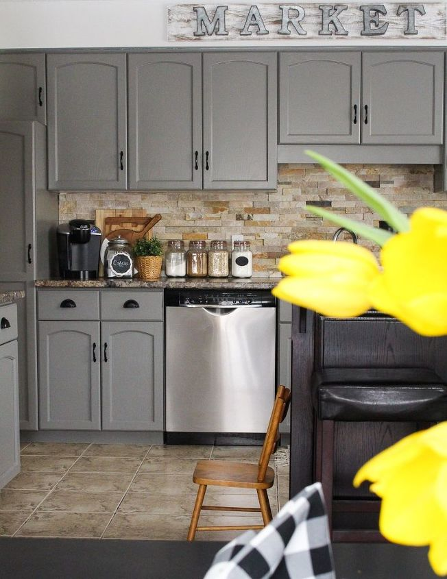 Our Kitchen Cabinet Makeover Hometalk - Diy kitchen cabinets makeover