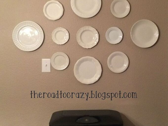 diy plate hangers for cheap, repurposing upcycling, wall decor