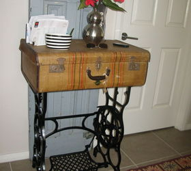 Bon Old Sterling Treadle Sewing Machine Revamped To Hall Table, Painted  Furniture, Repurposing Upcycling