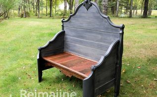 diy bed to bench, diy, how to, outdoor furniture, painted furniture, repurposing upcycling