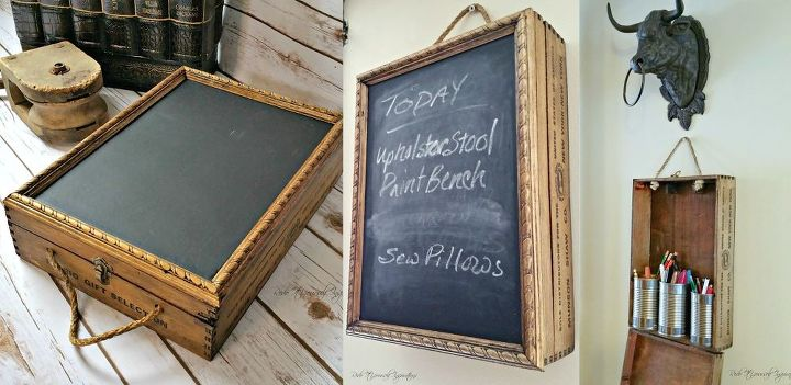 from junk to storage idea organized chalkboard, chalkboard paint, crafts, how to, organizing, repurposing upcycling, storage ideas