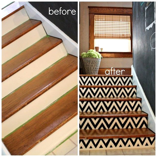 10 home improvement projects everyone s afraid of and how to do them, bathroom ideas, countertops, doors, flooring, hardwood floors, home improvement, kitchen backsplash, kitchen cabinets, kitchen design, painting, shelving ideas, stairs, tiling, Photo via Robb Restyle