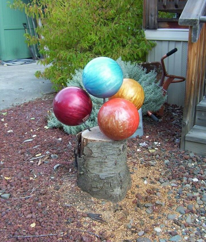 unsightly stump, outdoor furniture, repurposing upcycling