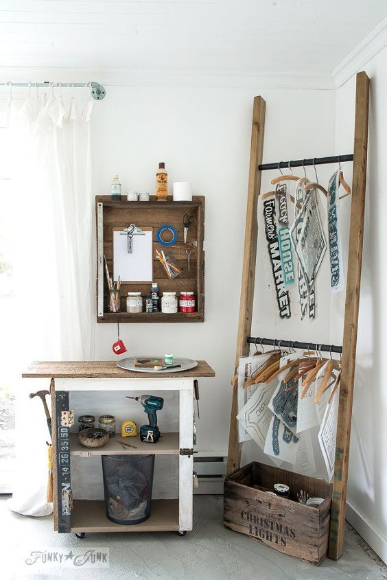 organize your hobby with a customized diy ladder anyone can make, craft rooms, diy, organizing, storage ideas, woodworking projects