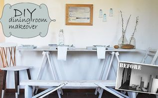 diy dining room makeover, dining room ideas, painted furniture, repurposing upcycling