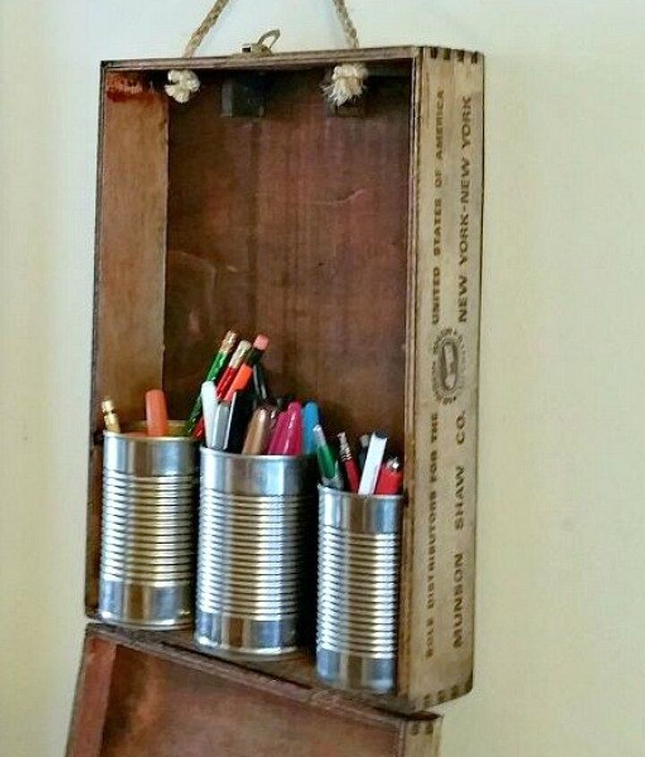 s 17 little known ways to use your wasted wall space, organizing, storage ideas, wall decor, Hang crates boxes as extra shelf space