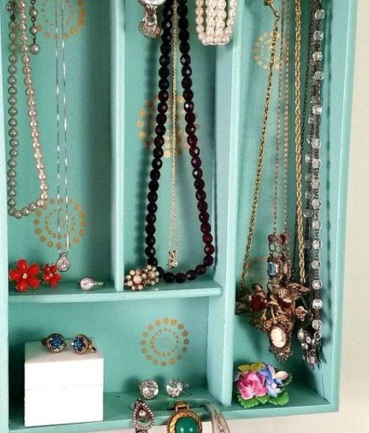 s 17 little known ways to use your wasted wall space, organizing, storage ideas, wall decor, Put up a silverware tray for jewelry