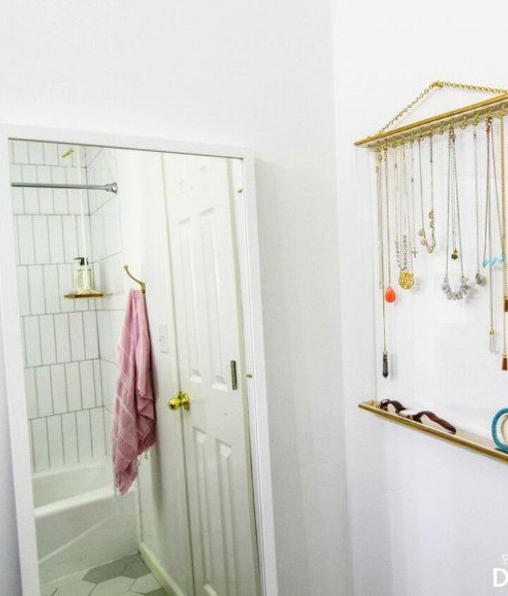 s 17 little known ways to use your wasted wall space, organizing, storage ideas, wall decor, Build a minimalist jewelry box