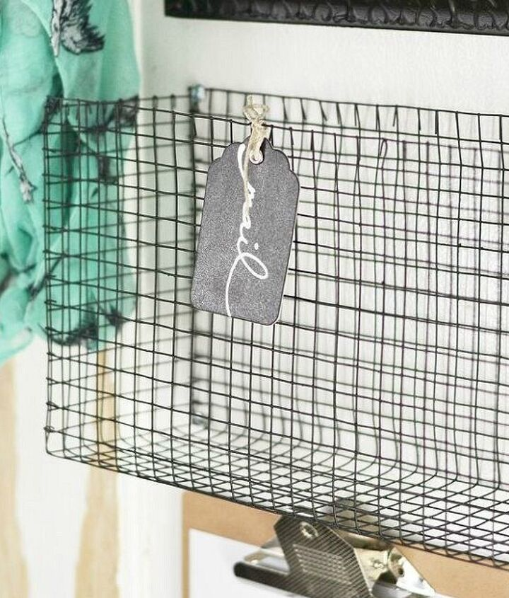 s 17 little known ways to use your wasted wall space, organizing, storage ideas, wall decor, Add DIY wire mesh baskets to an entryway wall
