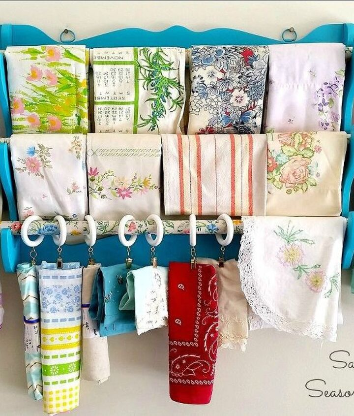 s 17 little known ways to use your wasted wall space, organizing, storage ideas, wall decor, Hang a thrift store rack for towels or fabric