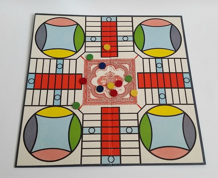 vintage parcheesi game board clock, crafts, repurposing upcycling, wall decor