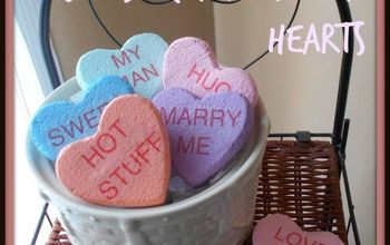 "DIY Jumbo ""Faux Candy"" Conversation Hearts"