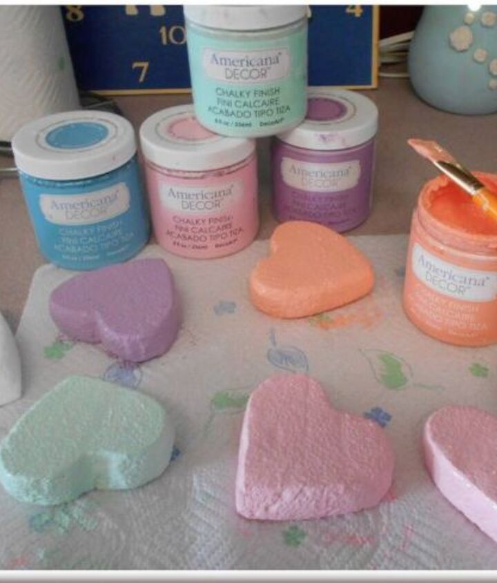 jumbo faux candy conversation hearts, crafts, seasonal holiday decor, valentines day ideas
