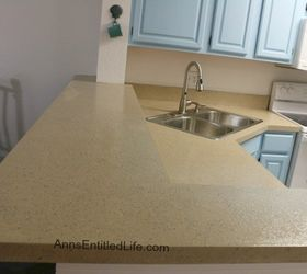 Refinished A Laminate Kitchen Countertop With Stone Without Removing,  Concrete Masonry, Countertops, Diy