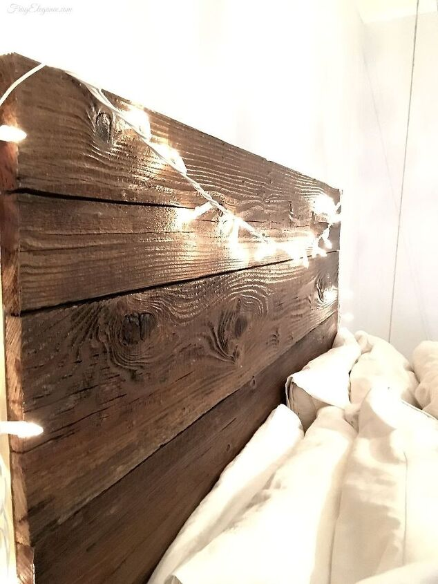 rustic headboard with hanging bedside table  bedroom ideas  diy  painted  furniture  rustic. Rustic Headboard With Hanging Bedside Table   Hometalk
