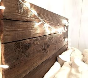 Rustic Headboard With Hanging Bedside Table, Bedroom Ideas, Diy, Painted  Furniture, Rustic