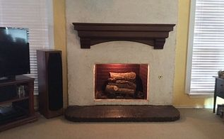 q refinish to match or, fireplaces mantels, home decor, home decor dilemma, Broad view of new dark cherry mantel